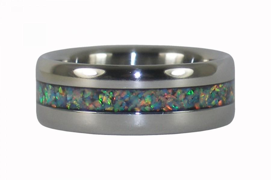 Hochzeit - Synthetic Fire and Ice Opal Ring