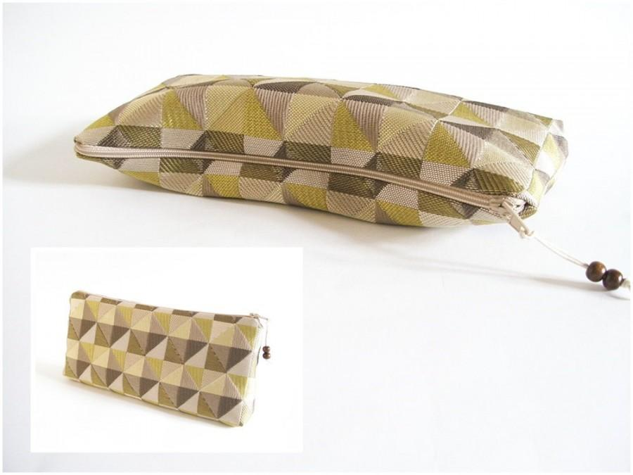 Olive Wedding Clutch Geometric Bag Modern Hipster Clutch Women