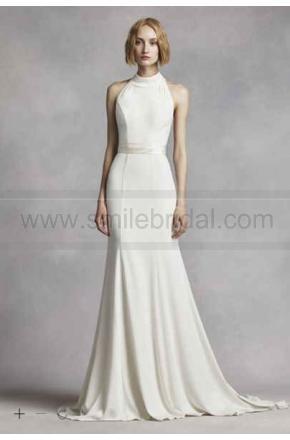 add679c8b464 White By Vera Wang High Neck Halter Wedding Dress VW351263 #2588953 ...