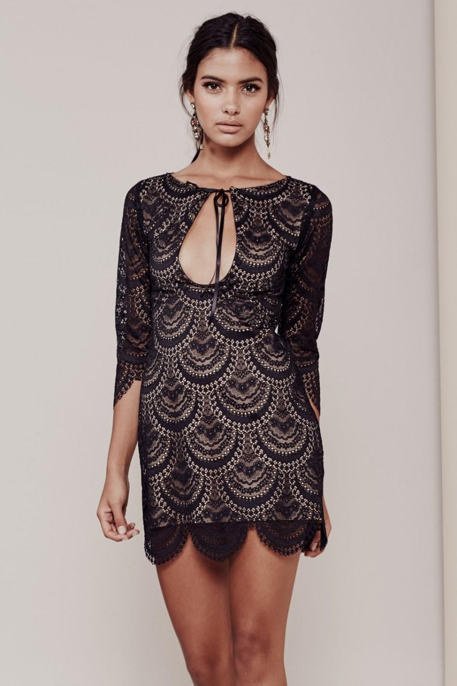 d37fb06fe6bd9 FOR LOVE & LEMONS ROSALITA MINI DRESS IN BLACK #2589019 - Weddbook