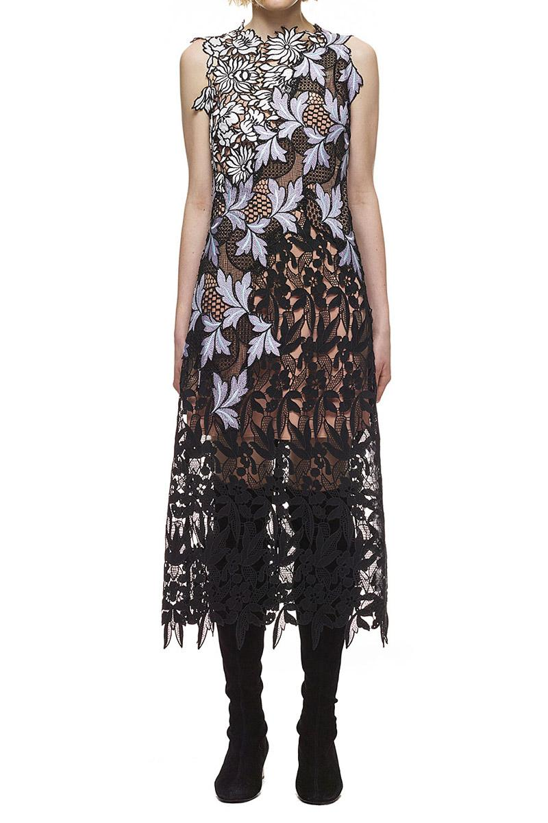 Mariage - Self Portrait Lilac Patchwork Dress