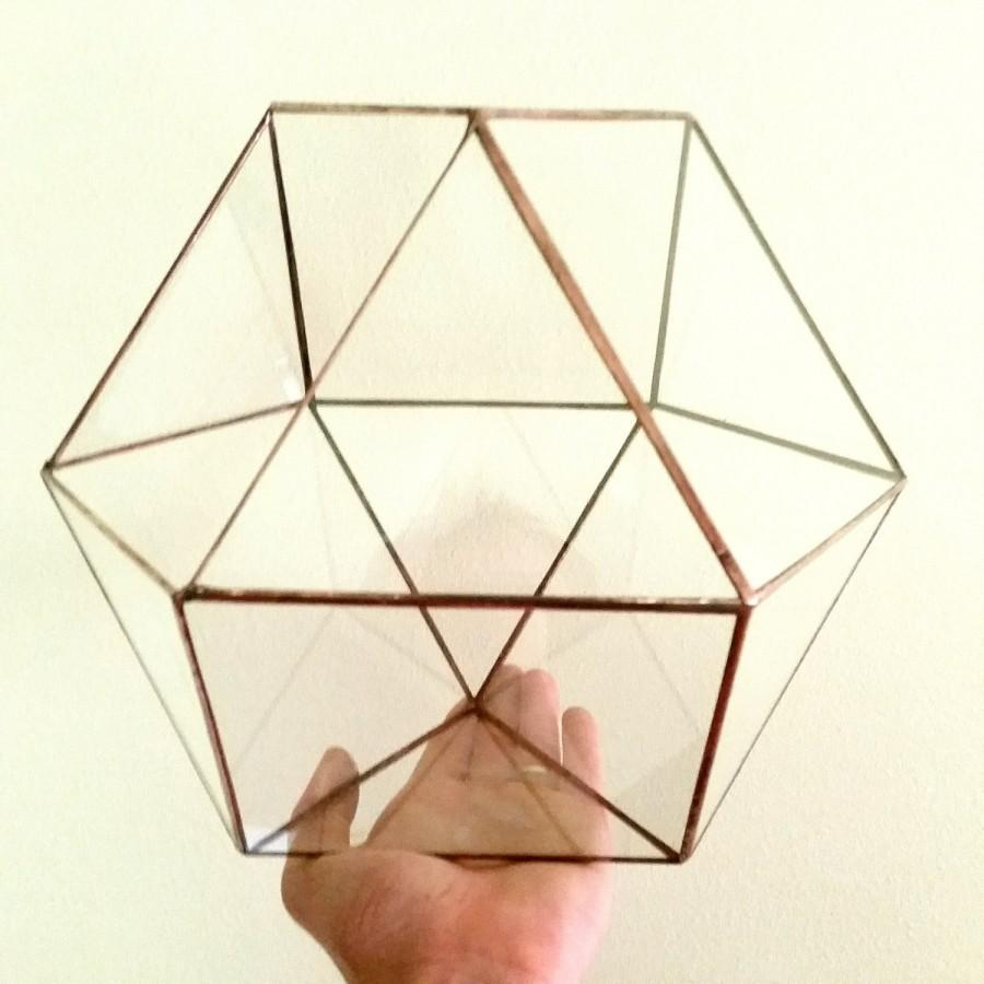 Wedding - Conservatory / Wedding Envelope Holder / Geometric Terrarium / Glass Terrarium / Cuboctahedron / Minimalistic Decor