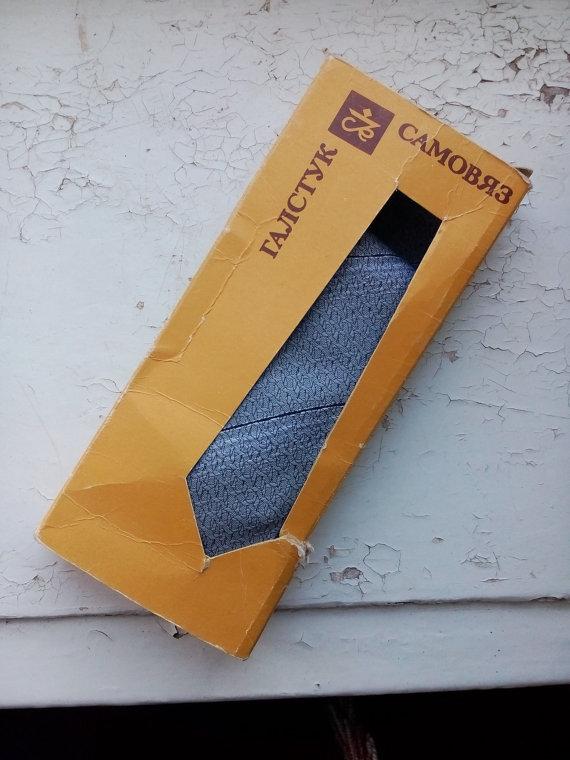 Hochzeit - vintage tie made in USSR 1980s soviet men's tie vintage necktie soviet union grey retro ties bethles vintage woven mid century tie jafntefli