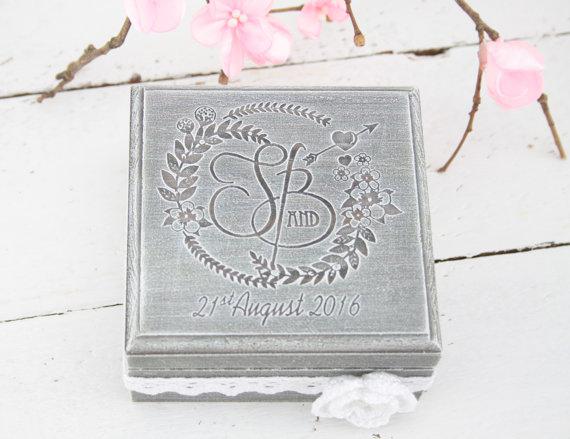 زفاف - Ring Bearer Box, Wedding/Engagement Ring Box, Personalised Wedding Ring Box, Ring Bearer Pillow,Rustic Wedding Ring Holder,Pillow Bearer Box