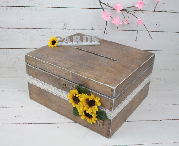 Свадьба - Wedding Card Box, Rustic Wedding Card Box, Rustic Card Box, Rustic Weddings, Advice Box, Card Box, Wedding Gift, Personalised Wedding Gift