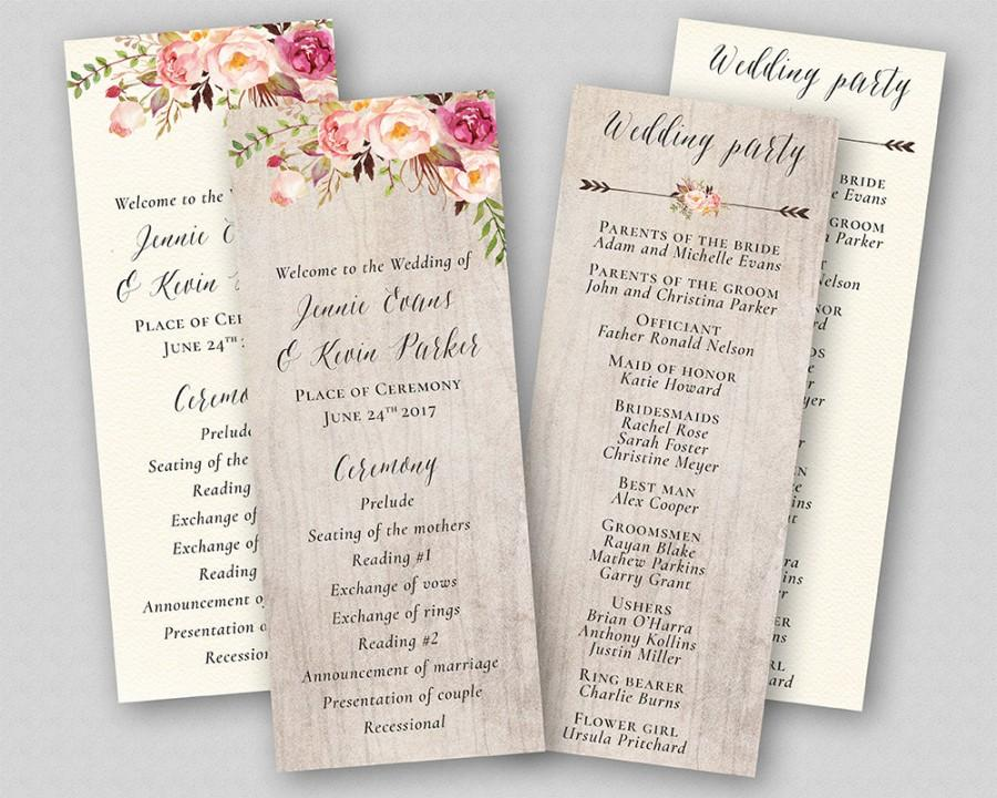 Wedding Ideas Program Weddbook - Floral wedding program templates