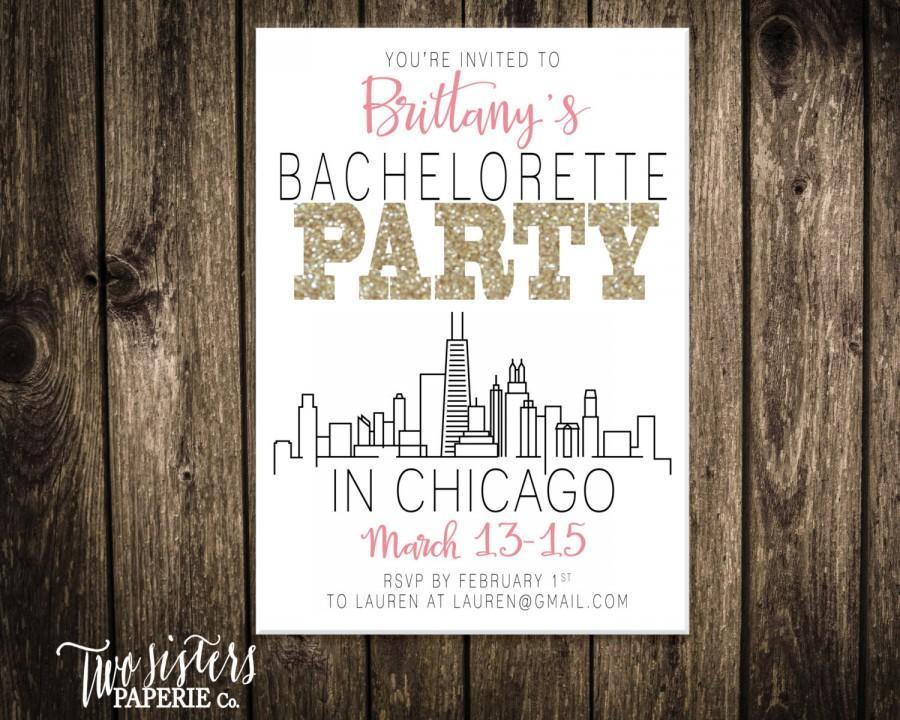 bachelorette party invitation chicago bachelorette party