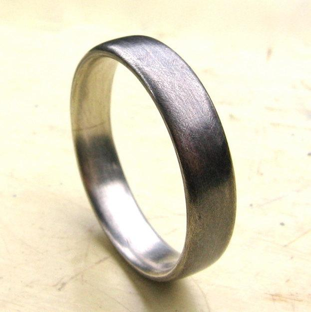 Свадьба - Mens recycled silver wedding ring, The Perfect Ring, 5 mm sterling silver band, simple wedding band, comfortable, plain ring, 1.5 mm thick.