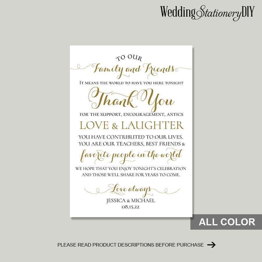 Hochzeit - Gold modern thank you note
