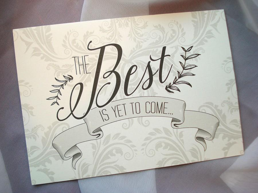 Hochzeit - The Best Is Yet To Come Layered Pocket Wedding Invitation - Sample
