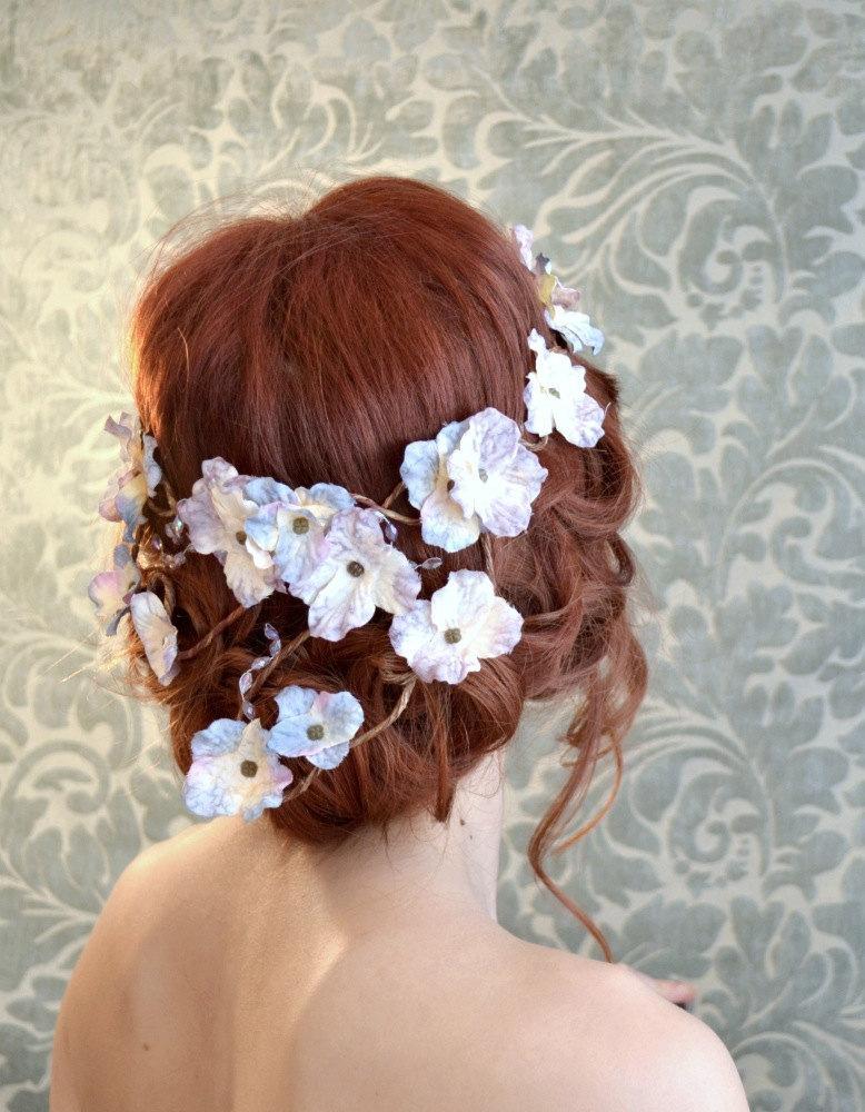 Hochzeit - Circlet, flower crown, wedding headband, fairy crown, woodland wreath, bridal headpiece, wedding accessories - Moon harvest