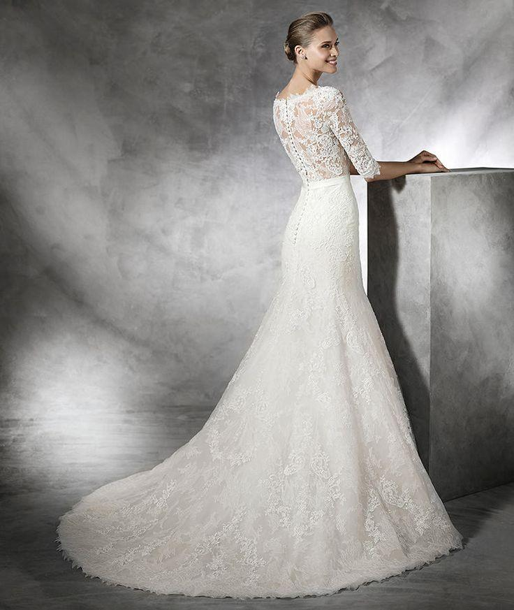 Mariage - TIMY - Vestido De Noiva Estilo Sereia E Manga Comprida