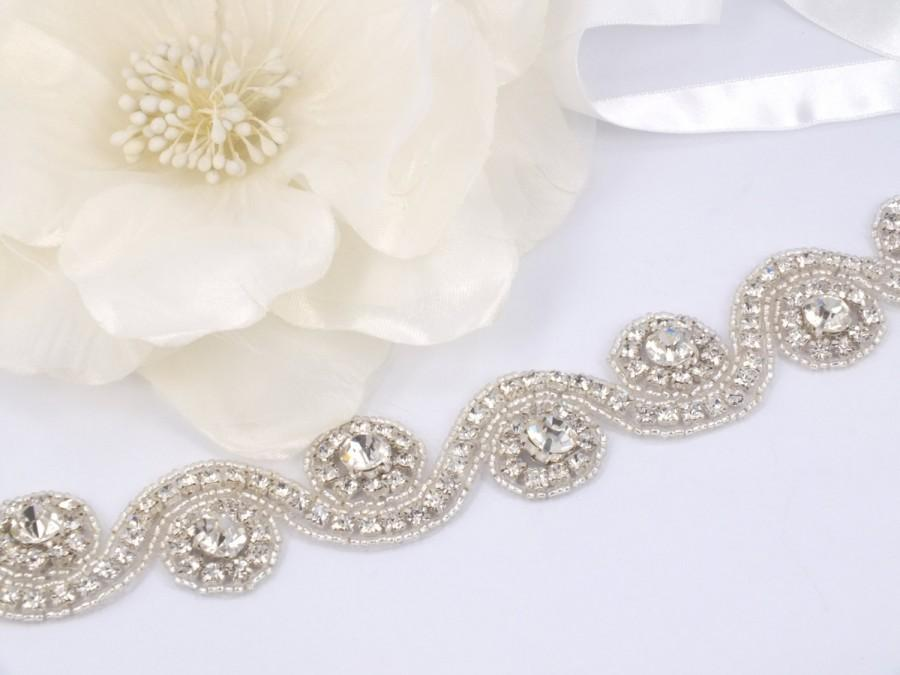 Свадьба - Beatrice - Vintage Style Rhinestone Crystals Wedding Head Band