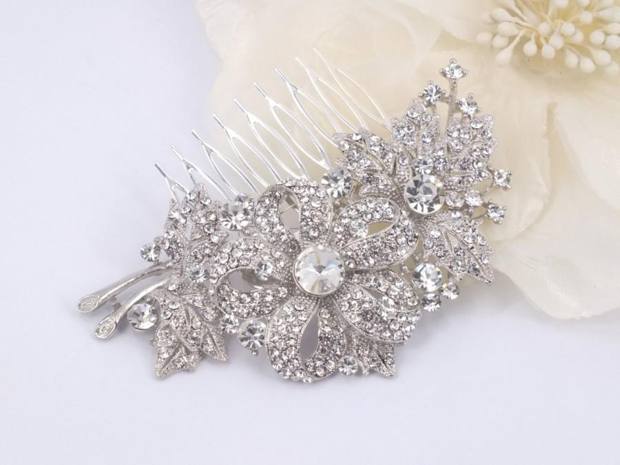 Mariage - Morning Glory - Vintage style Rhinestone Bridal Comb