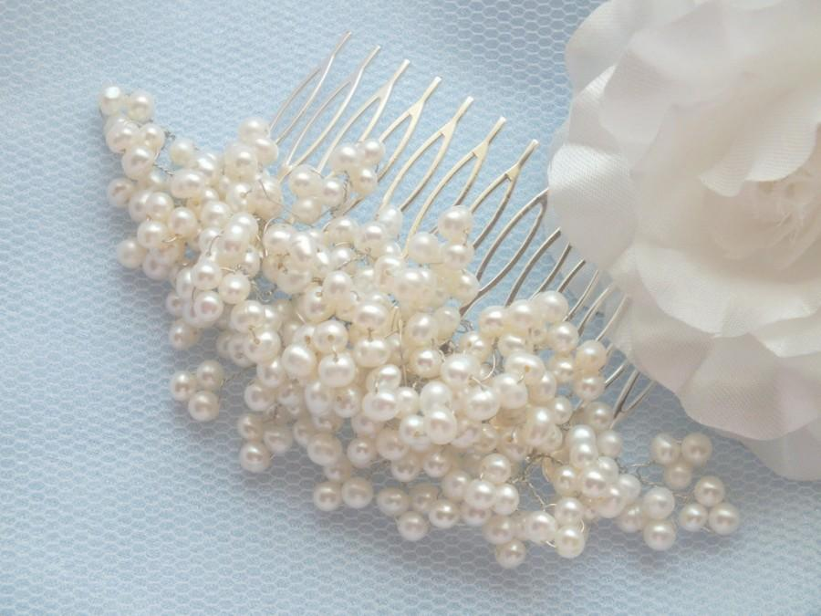 Mariage - Princess - Vintage Style  Freshwater Pearl Hair Comb