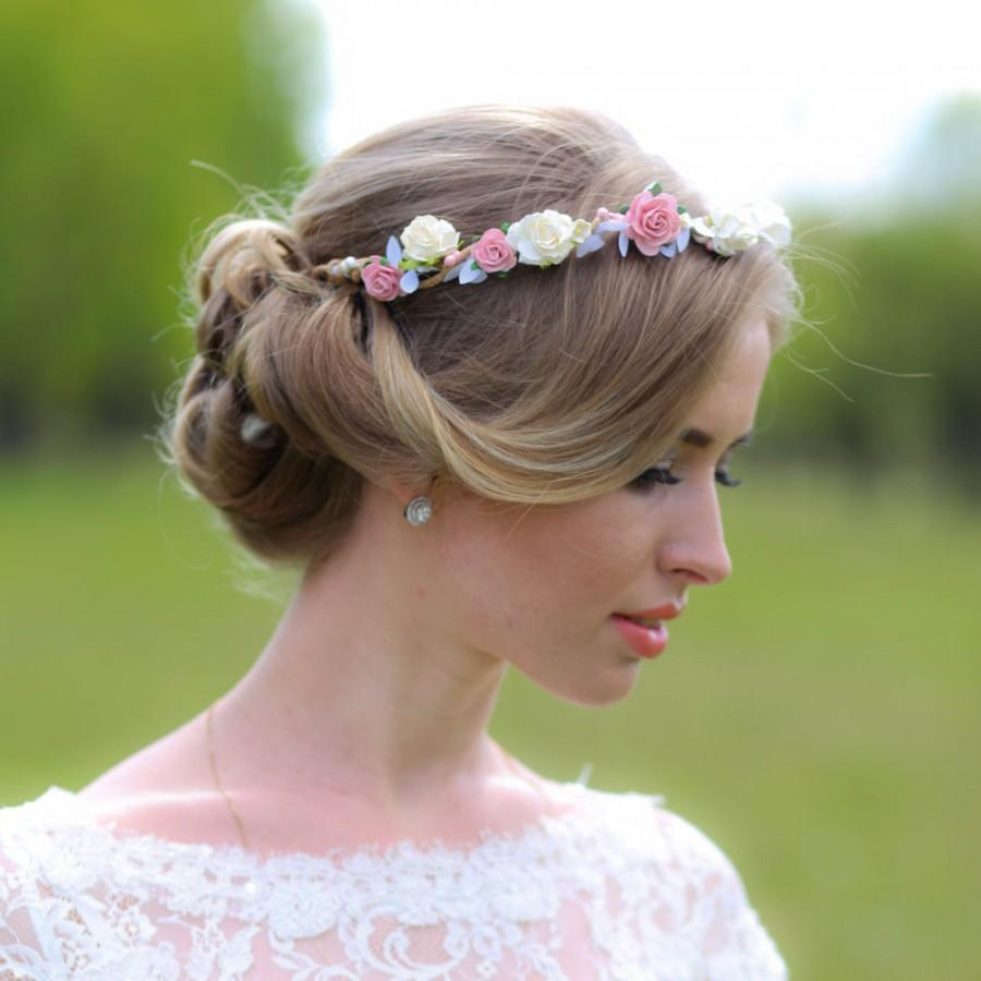 Pink And Ivory Flower Crown 914ab89c5b1