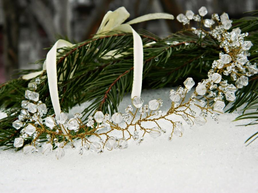 Mariage - Hair band decorated with crystals
