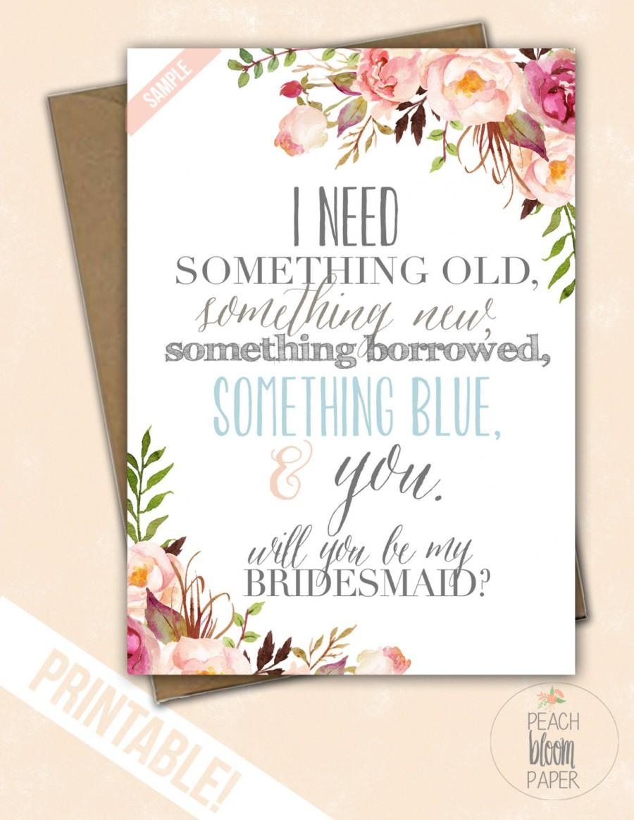 something blue set of will you be my bridesmaid the rosemary maid