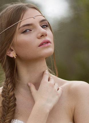 Свадьба - Wedding Headband, bridal Hair accessories, wedding bridal forehead band , wedding bridal tiara Wedding Hair Accessories , Brides Headpieces,