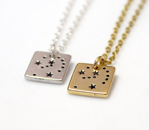 Wedding - Orion Necklace Silver plated, Orion Constellation Necklace, Necklace Horoscope, Orion Constellation Jewelry, Gold Astrology, Orion Gift