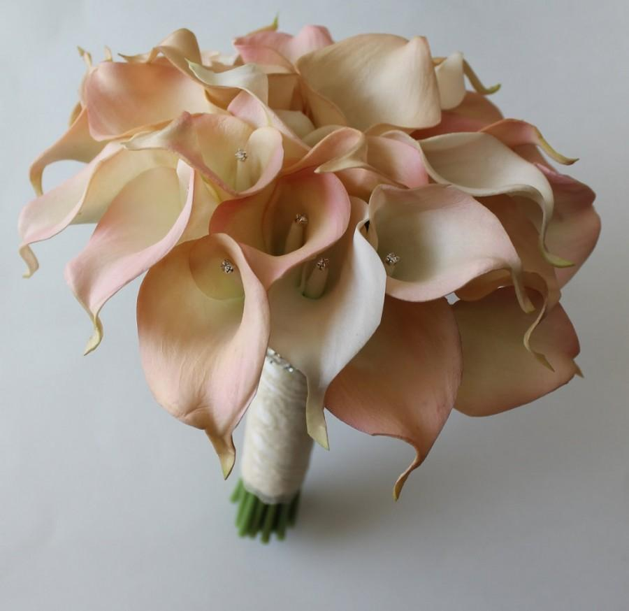 Wedding bouquet blush calla lilly bouquet bridal bouquet blush pink wedding bouquet blush calla lilly bouquet bridal bouquet blush pink bouquets wedding bouquets bouquets calla lily wedding bouquet izmirmasajfo