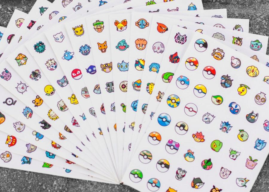 Pokemon Go Stickers Decal Set 760 Characters Charac