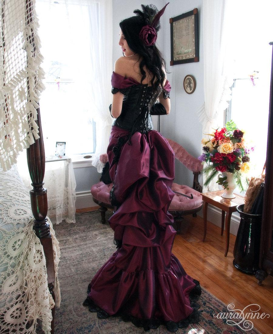 Mariage - Luscious in Leather - Taffeta Steampunk Ballgown - Made to Measure