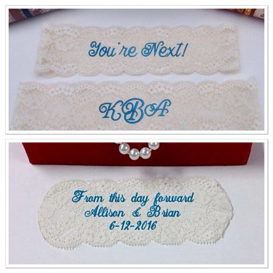 Embroidered Monogram On Wedding Dress