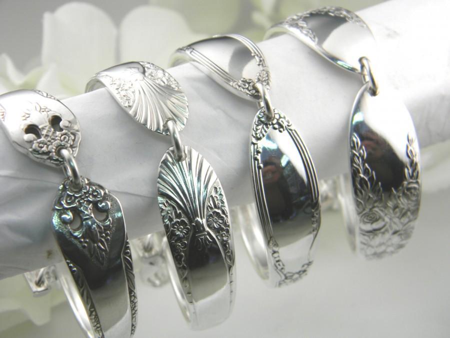 Bridesmaids Bracelets Spoon Bracelets Free Engraving Vintage