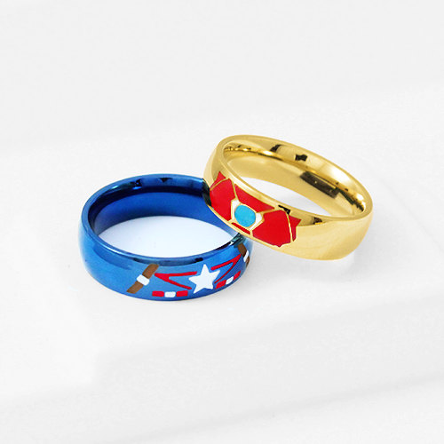 STONY Ring Iron Man Captain America Stainless Steel, Stony Ring ...