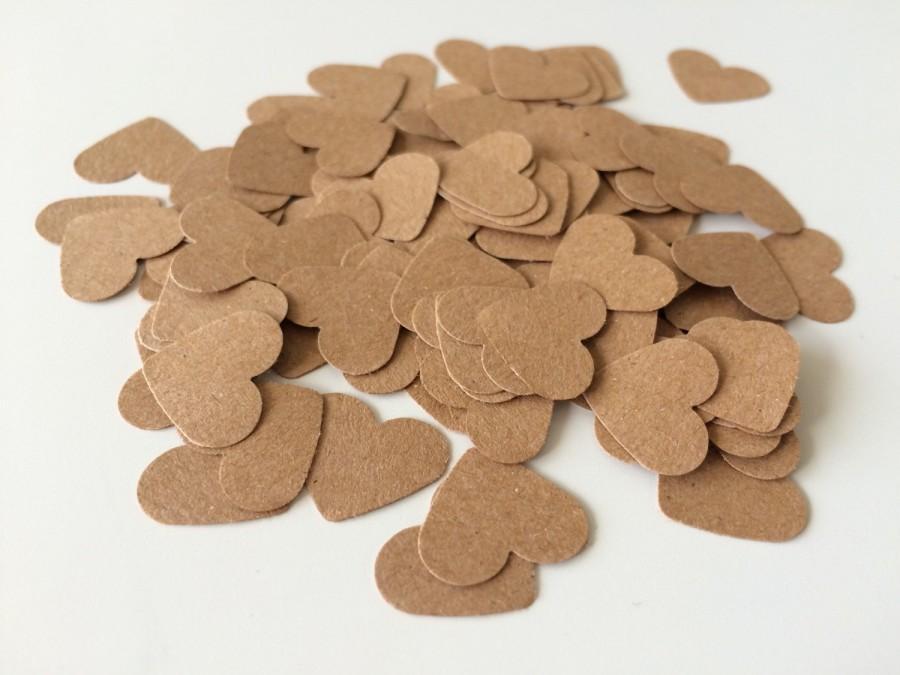 Hochzeit - Kraft Paper Heart Confetti