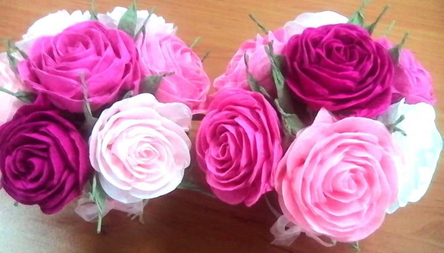 Crepe Paper Flowers KATE SPADE INSPIRED Rose Table Decor Wedding Centerpieces 1st Birthday Tea Party Bridesmaids Baby Shower Sweet 16