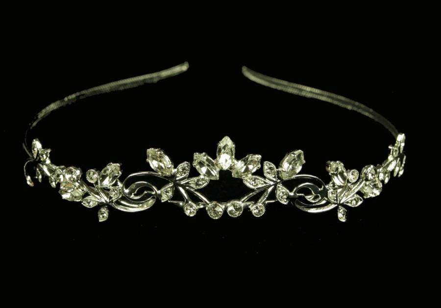 Mariage - Wedding Tiara - Rhinestone Tiara - Luna Bridal Crystal Tiara - Bridal Hair - Wedding Jewelry - Bridal Headpiece