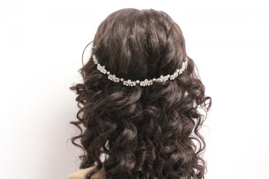 Mariage - Wedding hair chain wedding hair band wedding hair vine wedding headband Wedding hair accessories bridal hair chain bridal headband wedding