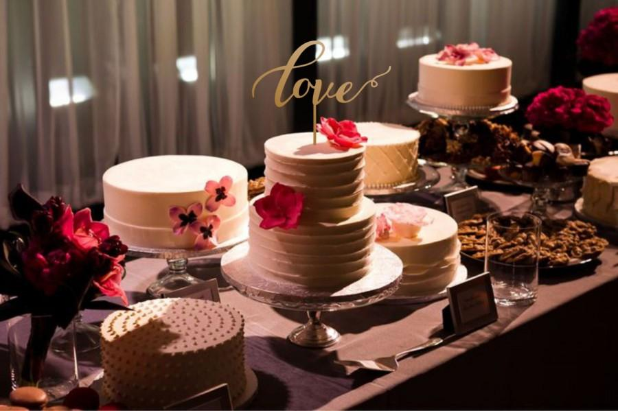 Mariage - cake topper love