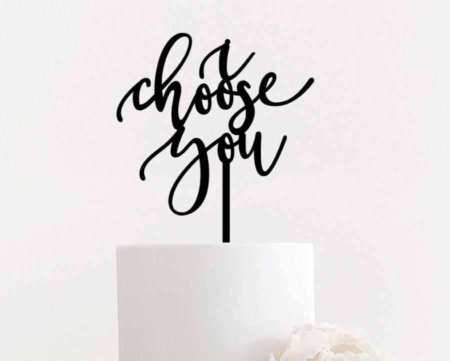 "Свадьба - i choose you - Wedding Cake Topper 6"" inches by Ngo Creations - Unique Fun Cute Calligraphy"