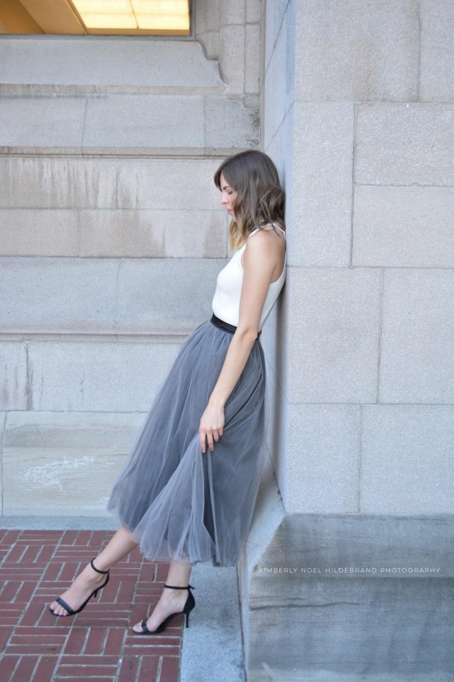 Tulle Skirt Tutu Petticoat Wedding Bridesmaid Dress Women Long ...