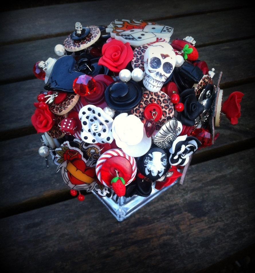Mariage - Button Bouquet - Rockabilly Tattoo Deposit