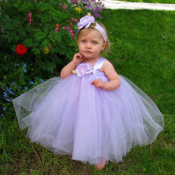 Hochzeit - Lavender Tulle Flower Girl Dress Wedding Flower Girl Dresses for Toddlers Girls Tulle Dress Flower Girl Tutu Toddler Flower Girl Dress Tutu