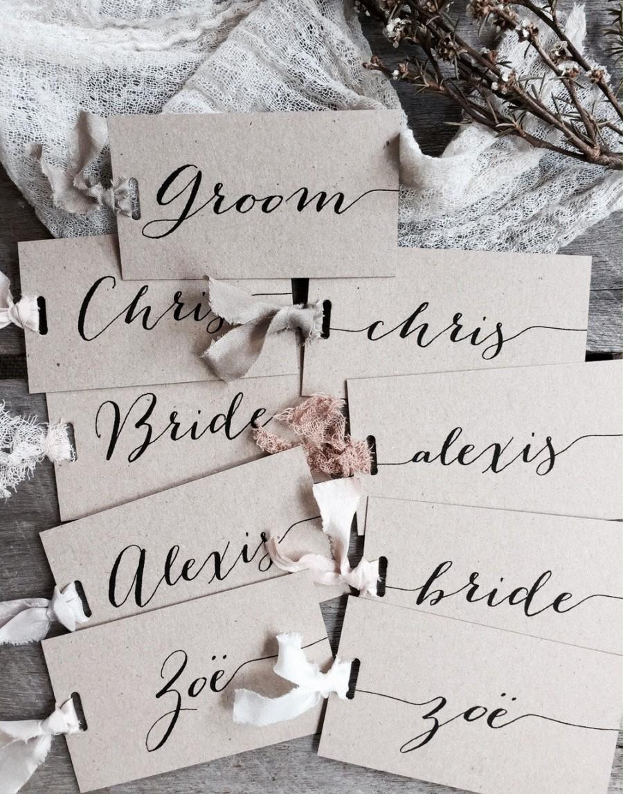 Wedding Place Cards, Place Cards, Place Card, Name Tags, Blush Place ...