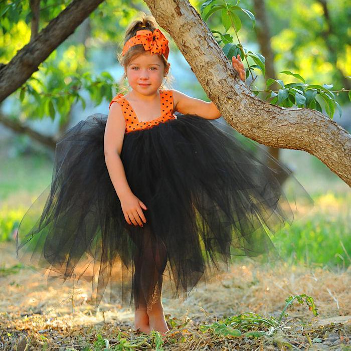 Halloween Tulle Flower Girl Dress Wedding Flower Girl Dresses For ...