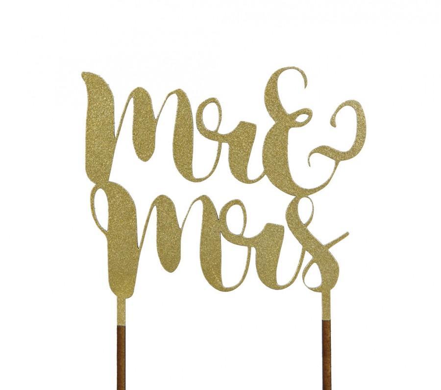 Mariage - Mr & Mrs Wedding Cake Topper