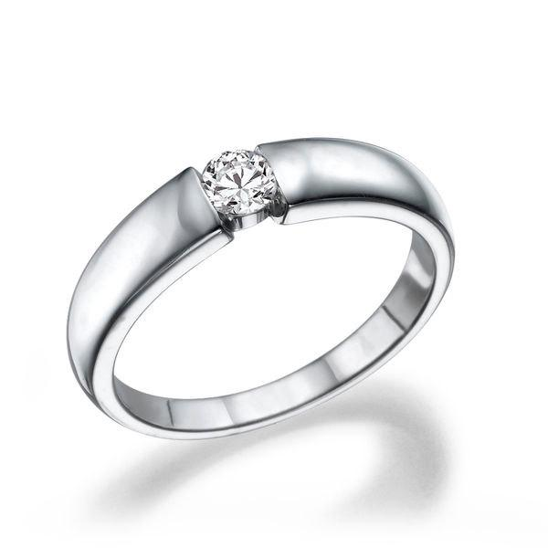 Mariage - Unique Engagement Ring, 14K White Gold Ring, Diamond Ring, Solitaire Engagement Ring, 0.20 CT Diamond Ring Vintage