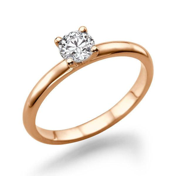 Mariage - Classic Diamond Engagement Ring, 14K Rose Gold Ring, 0.5 TCW Diamond Ring Band, Art Deco Engagement Ring, Unique Rings