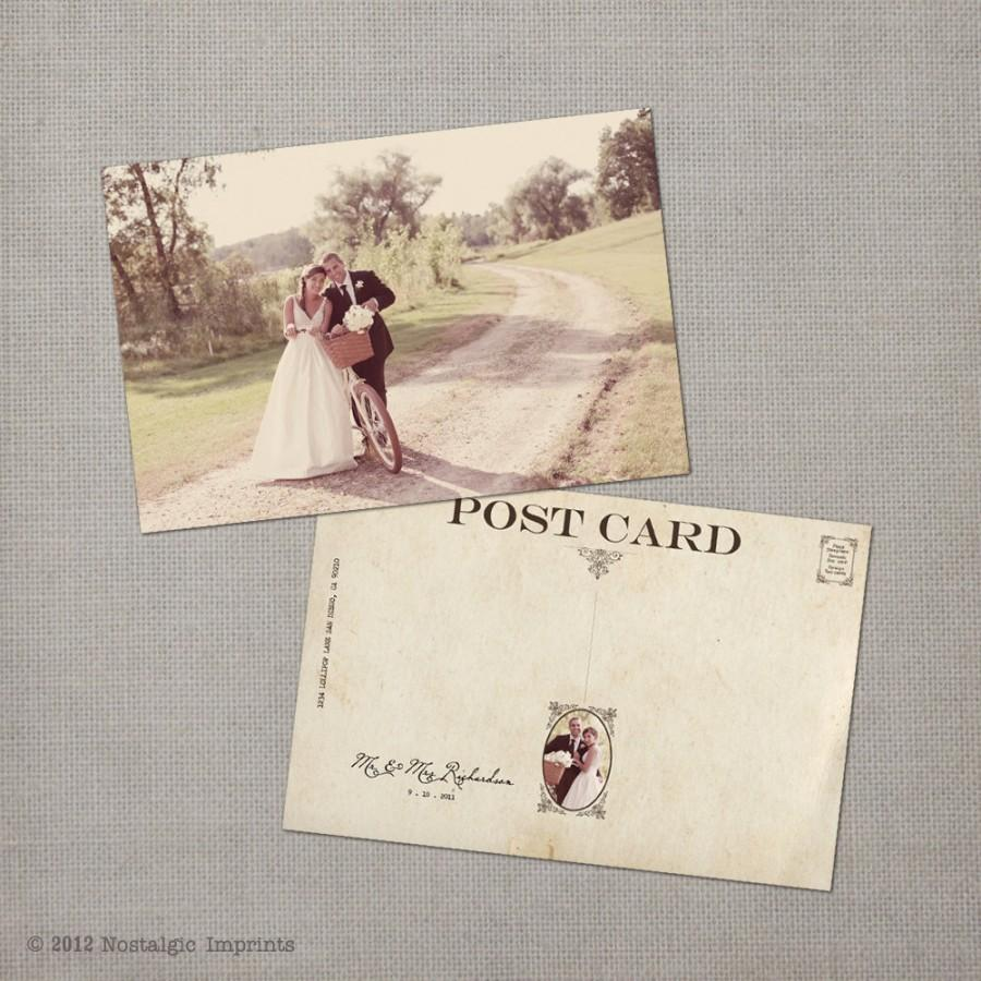 Vintage Wedding Thank You Cards Note Card Postcard The Winnie