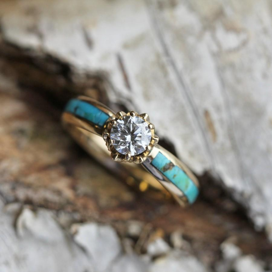 turquoise diamond ring turquoise turquoise wedding ring Diamond Wedding Set Pear Diamond Ring with V shaped diamond band Pave Diamond Ring 18k Solid Gold