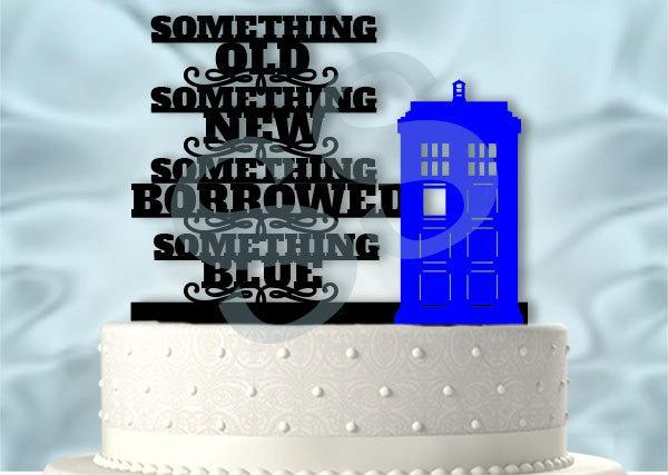 Свадьба - Something Blue Doctor Who Inspired Wedding Cake Topper