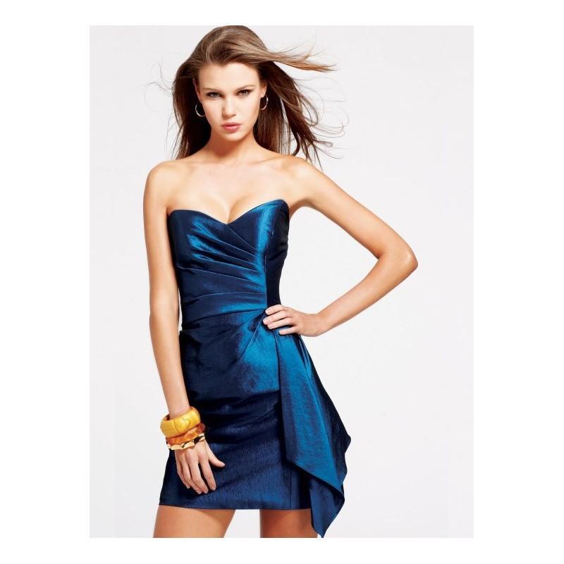 gewinkelt blaue taffeta strapless sweetheart kurze cocktail prom kleid festliche kleider. Black Bedroom Furniture Sets. Home Design Ideas