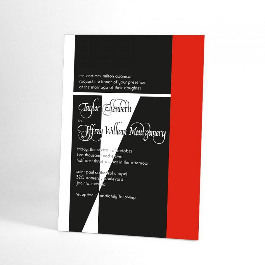 Modern Wedding Invitations, Elegant Blend Of Traditional And ...