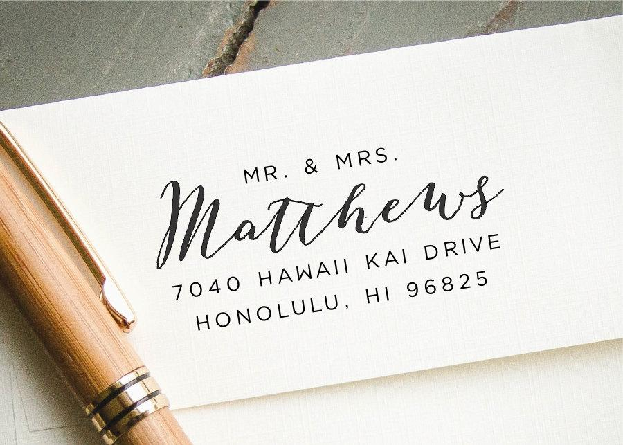 Wedding - Self Inking Stamp, Cusotm Stamp, Custom Rubber Stamp, Custom Address Stamp, Personalized Stamp, Return Address Stamp, Custom Wedding Stamp